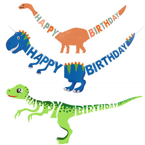 DINOSAUR Happy Birthday Banner | Dinosaur Garland | Dinosaur Party Decoaration  | Jurassic Party | Dinosaur Party Favors | T-Rex Dinosaur