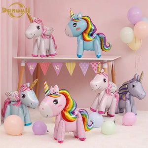 UNICORN BALLOONS- Unicorn Party Decoation, Unicorn Birthday, 3D Unicorn Balloon, Rainbow Unicorn, Cartoon Balloons, Girls Birthday Party