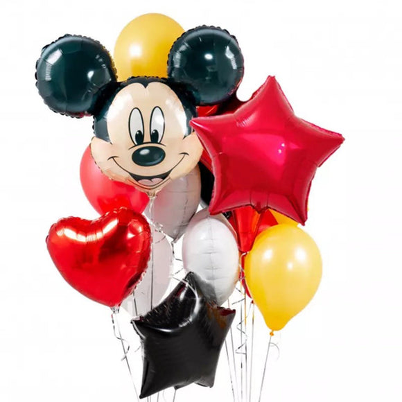 MICKEY Mouse BALLOONS, Mickey Birthday Party Decoration. Mickey Mouse Giant Head Balloon | Disney Theme Party | Mickey Party Balloon Bouquet