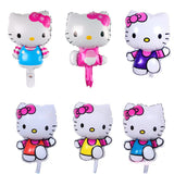 HELLO KITTY Helium foil Balloons, Hello kitty Party Decorations, Hello Kitty Birhtday,  Girls Birthday 1st Party Supplies