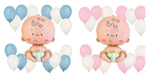 BABY BOY or Baby Girl Balloon Bouquet- Baby Shower for Boys, Boy's Baby Shower, Gender Reveal Party, Baby Shower Balloons, Baby Girl Shower