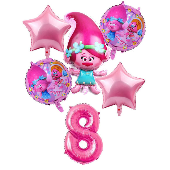 TROLLS BALLOONS-Trolls Poppy Shape Party Balloons, Toy Story and Friends Balloon, Toy Story Party Supplies, Spaceman Balloon