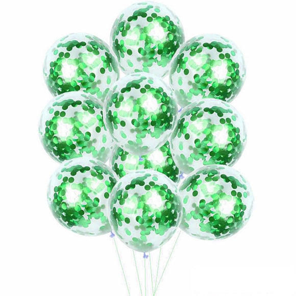 Green Confetti Balloons - Boys Birthday Party, 1st Birthday Balloons, Kids Party Balloons, Green Balloons Bouquet, Baby Shower Balloons