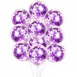 Purple Confetti Balloons - Blue Confetti Balloons Bouquet, Birthday Balloons, Navy Royal Balloons, Balloon Bouquet