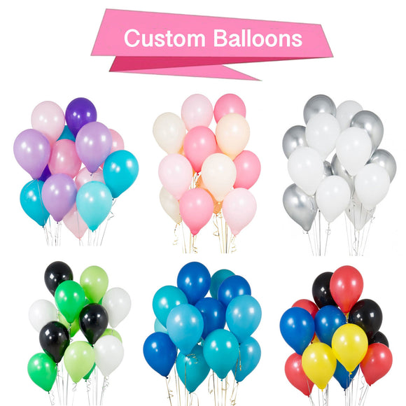 Custom Girl's Party Balloons, Boy's Party Balloons, Superhero, Baby Shower Balloons, Graduation Balloons, Princess Balloons, Unicorn Balloon