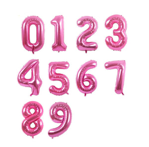 "Hot Pink 40"" Number Balloons - Number Balloons, Giant Number Balloons, Jumbo Balloons, Age Balloons, Birthday Age Balloons"
