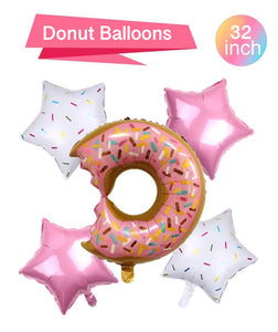 Donut Shape Balloons Bouquet - Girls Birthday Party Balloons, Donut Grow Up, Donut Birthday Party, Donut Decorations, Donut Balloons Bundle