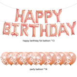 Rose Gold Birthday Party Decoration Set