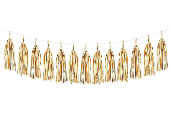 Gold Foil Tassel Garland Kit
