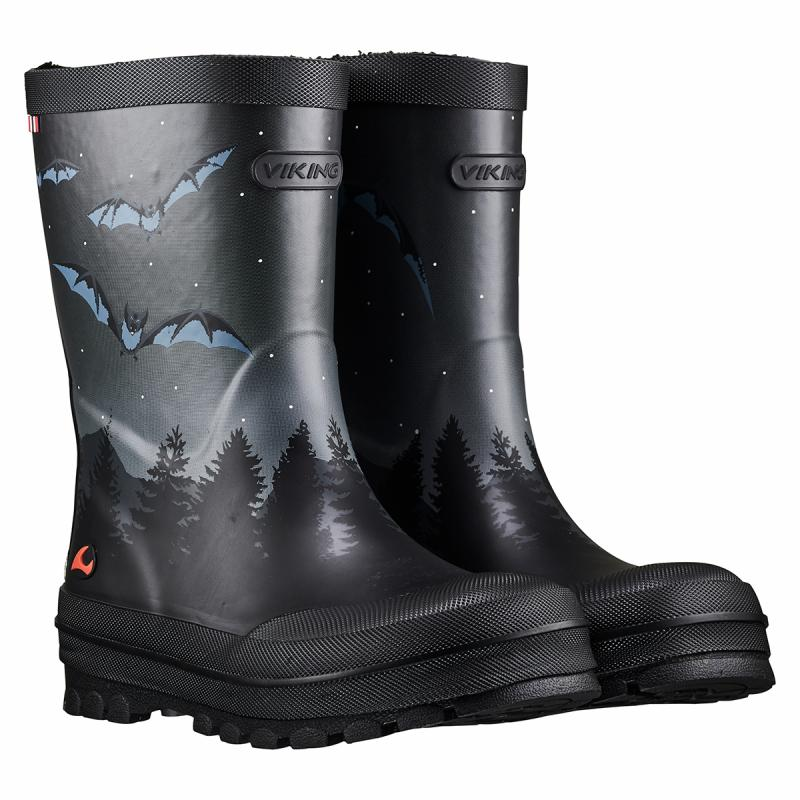 Viking Jolly Bat & Eagle, Soft Natural Rubber Boots, Wellington Children's Footwear