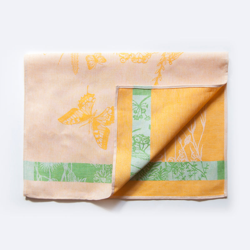 Linen + Cotton Jacquard Tea Towels double-sided 'TEA-PARTY', 3 pc - Treasure Box