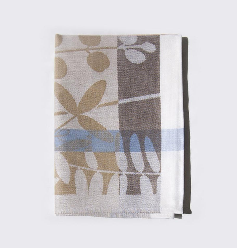 Cotton + Linen Jacquard Tea Towels double-sided 'TEA-PARTY', 3 pc