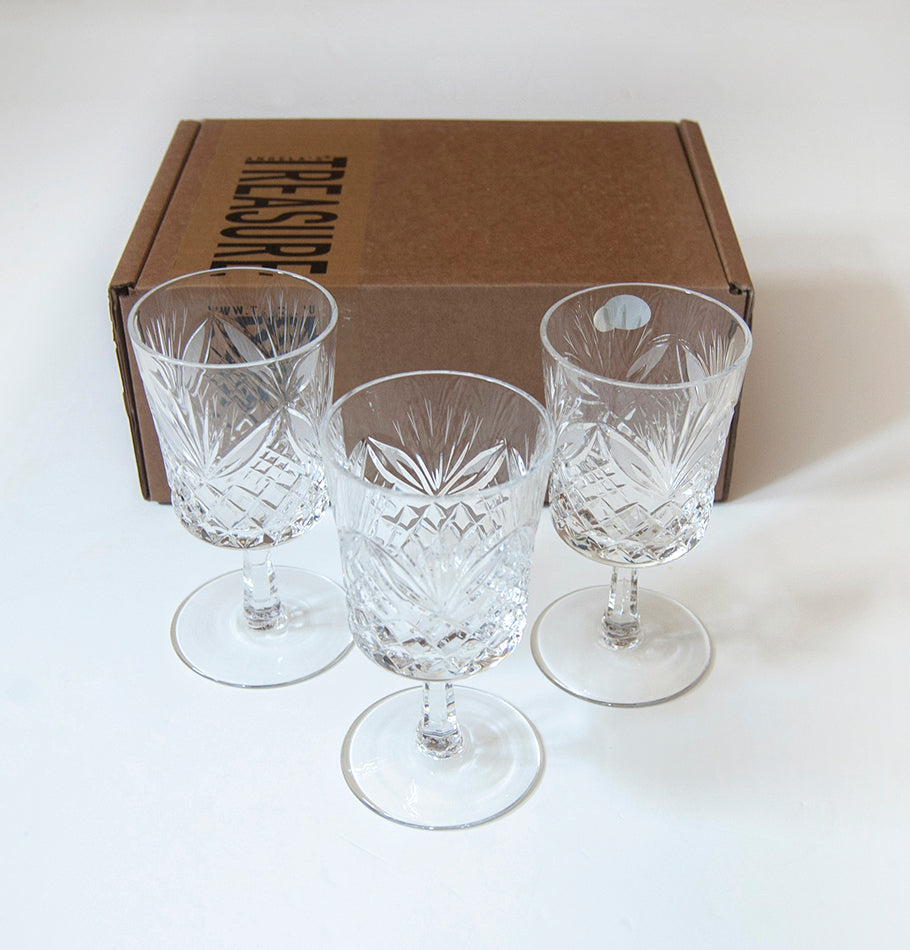 Wine/water glass, 150 ml, 3 pc, 'SUNNY BUNNY' - Treasure Box