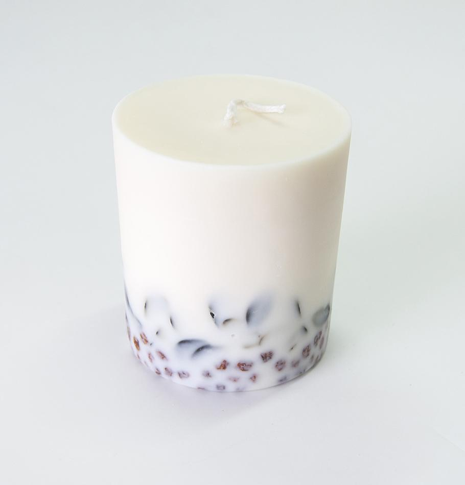 "Scented Soy Wax Candle, Ashberry & Bilberry Leaves, ""5 SENSES"", 515 ml"