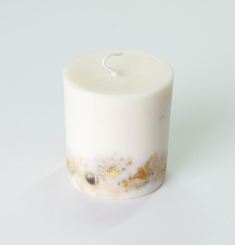 "Scented Soy Wax Candle, Marigold Flowers,  ""5 SENSES"", 515 ml - Treasure Box"