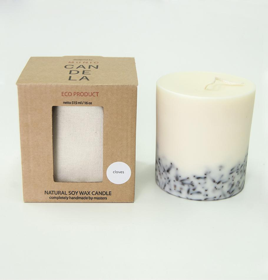 "Scented Soy Wax Candle, Cloves,  ""5 SENSES"", 515 ml"