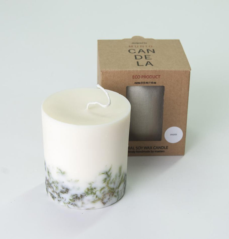 "Moss, Scented Soy Wax Candle ""5 SENSES"", 515 ml"