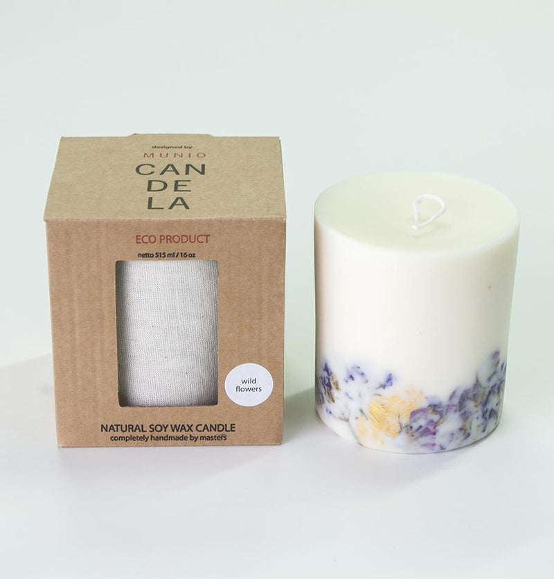 "Scented Soy Wax Candle, Wild Flowers, ""5 SENSES"", 515 ml - Treasure Box"
