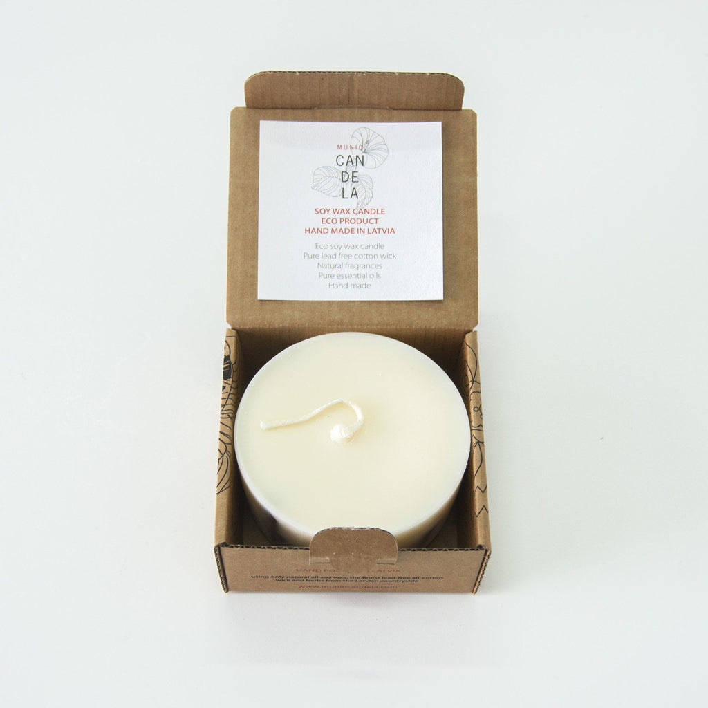 "Scented Soy Wax Candle, Cinnamon, ""5 SENSES"", 220 ml"