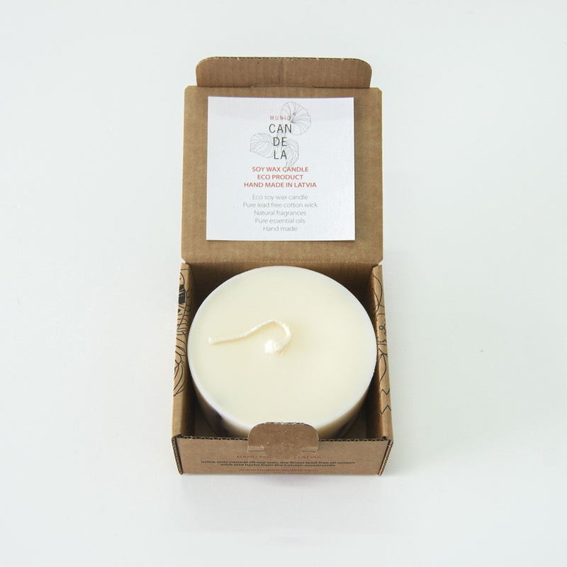 "Scented Soy Wax Candle, Cinnamon, ""5 SENSES"", 220 ml - Treasure Box"