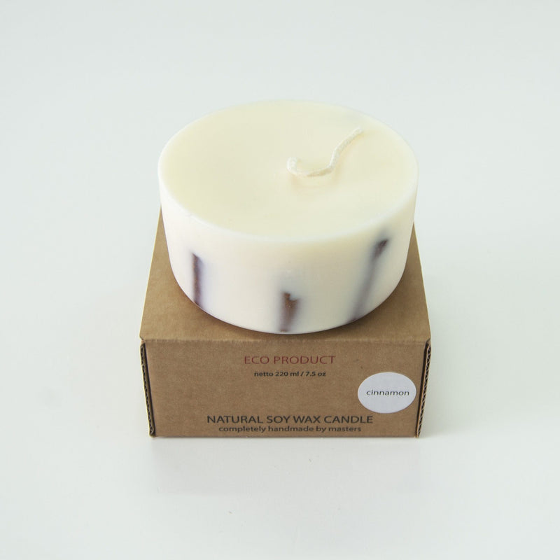 "Cinnamon, Scented Soy Wax Candle ""5 SENSES"", 220 ml"