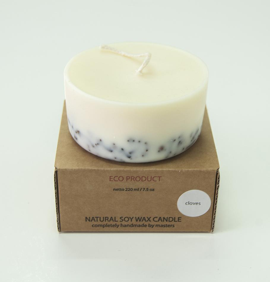 "Scented Soy Wax Candle, Cloves,  ""5 SENSES"", 220 ml"