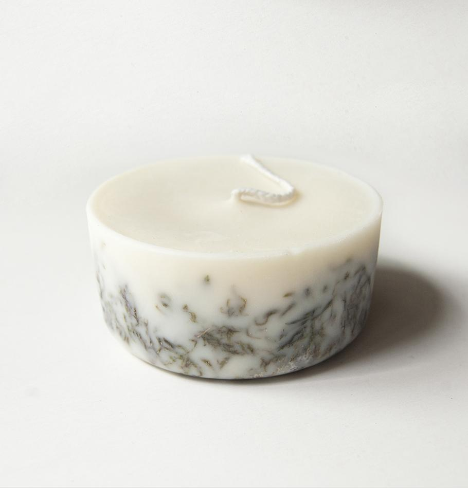 "Scented Soy Wax Candle, Moss, ""5 SENSES"", 220 ml"