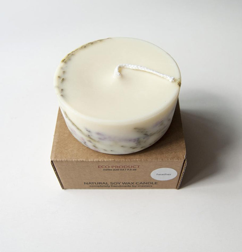 "Scented Soy Wax Candle, Heather, ""5 SENSES"", 220 ml - Treasure Box"
