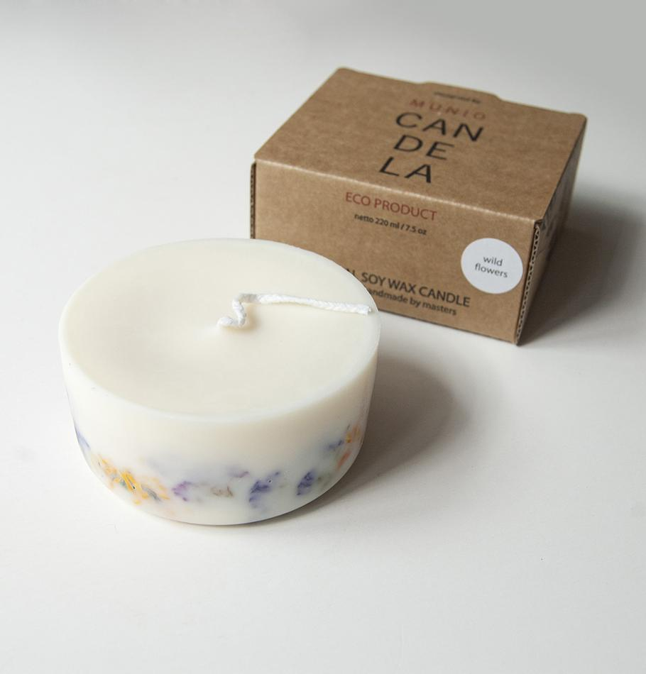 "Scented Soy Wax Candle, Wild Flowers, ""5 SENSES"", 220 ml"