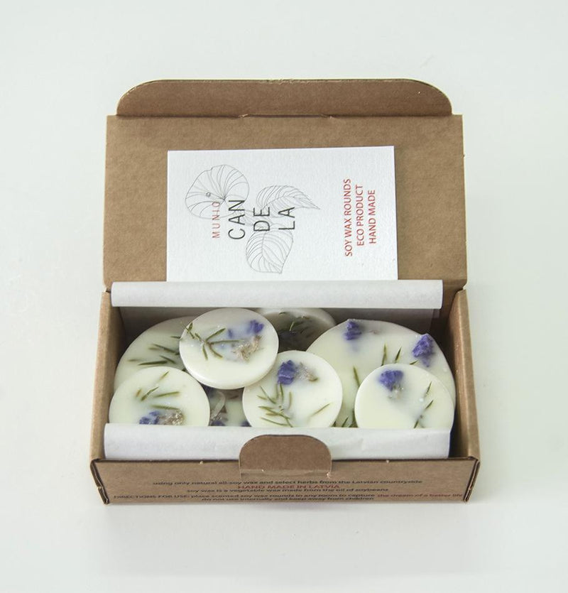 "Scented Soy Wax Rounds, Juniper & Limonium,  ""5 SENSES"", 120 ml - Treasure Box"