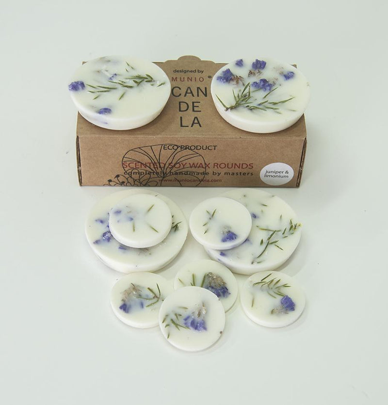 "Scented Soy Wax Rounds, Juniper & Limonium, ""5 SENSES"", 120 ml"