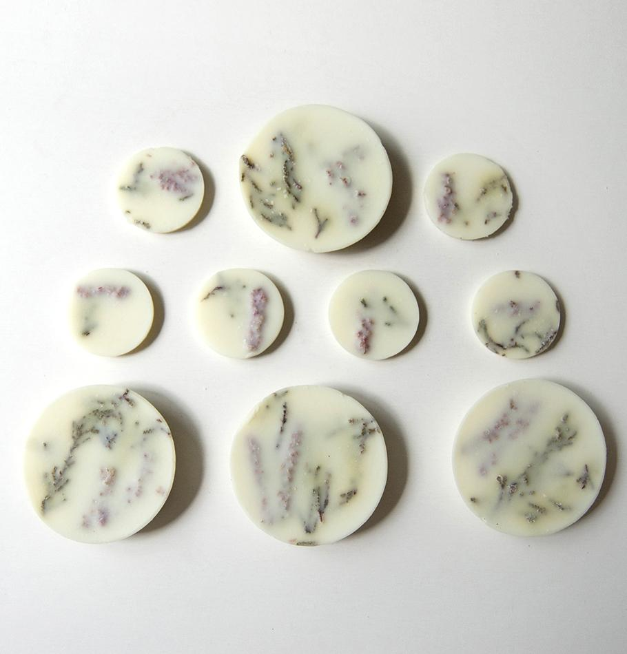 "Scented Soy Wax Rounds, Heather,  ""5 SENSES"", 120 ml - Treasure Box"
