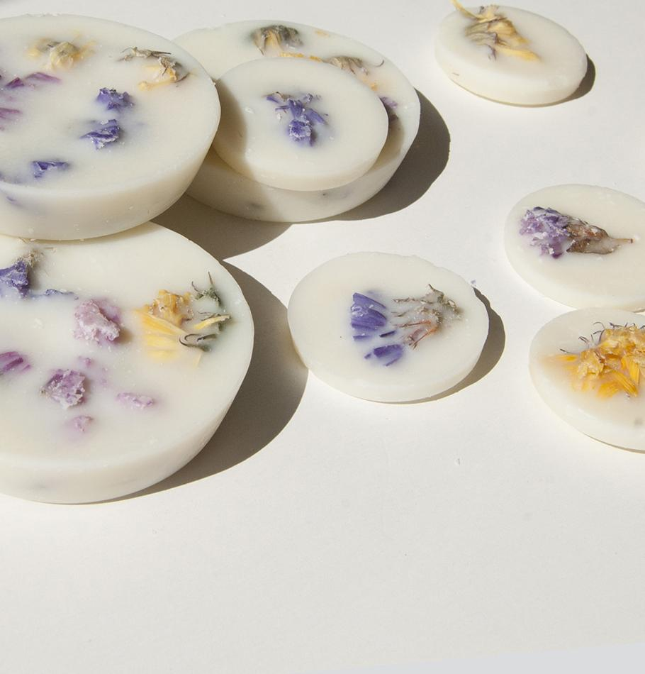"Scented Soy Wax Rounds, Wild Flowers, ""5 SENSES"", 120 ml"