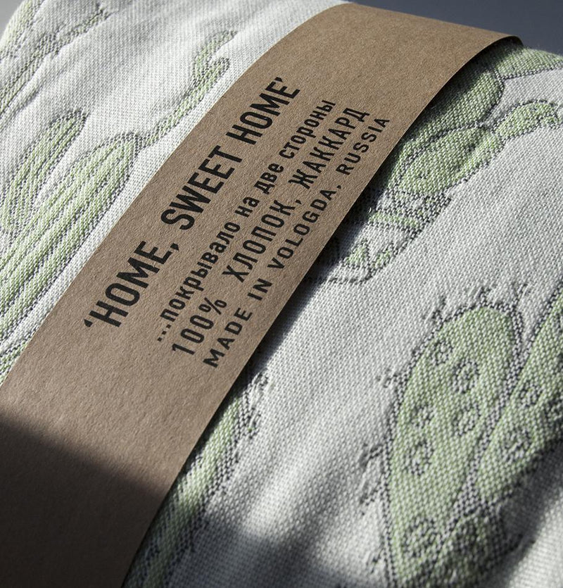 Jacquard Blanket double-sided 140 x 200 cm, 'FOREVER & EVER...the weave made' - Treasure Box