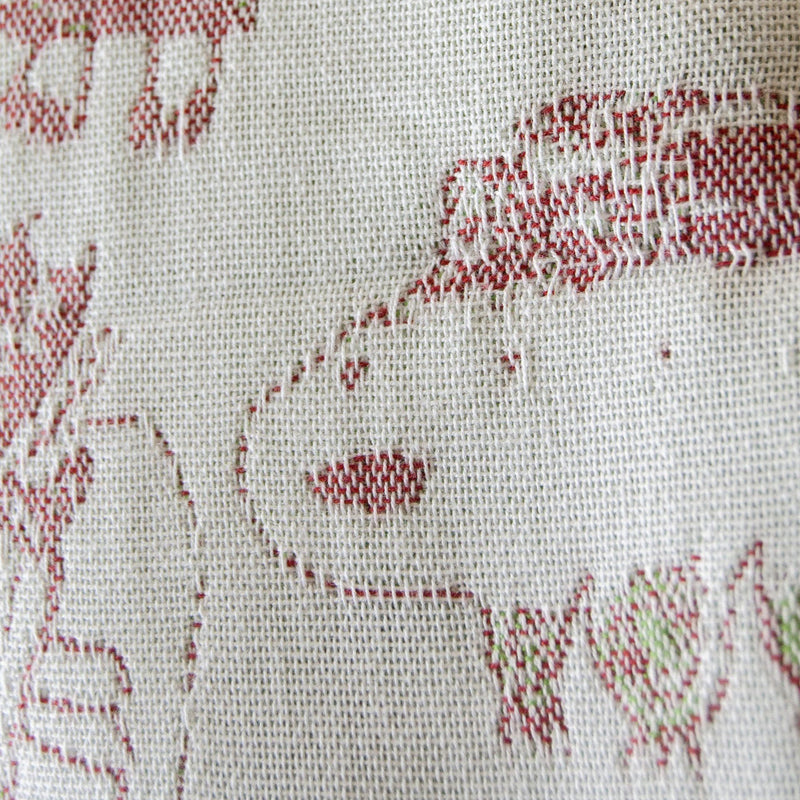 "Jacquard Throw double-sided ""I'LL DRAW YOUR PORTRAIT..."""