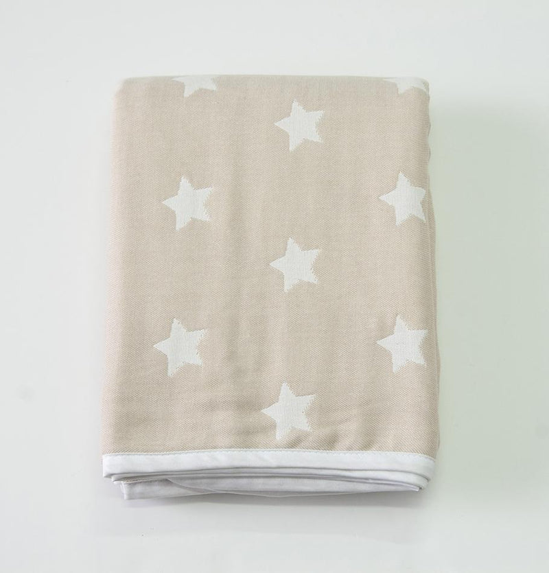 Jacquard Throw, 100% Cotton, double-sided, 140 x 200 cm 'HOW TO CATCH A STAR' - Treasure Box