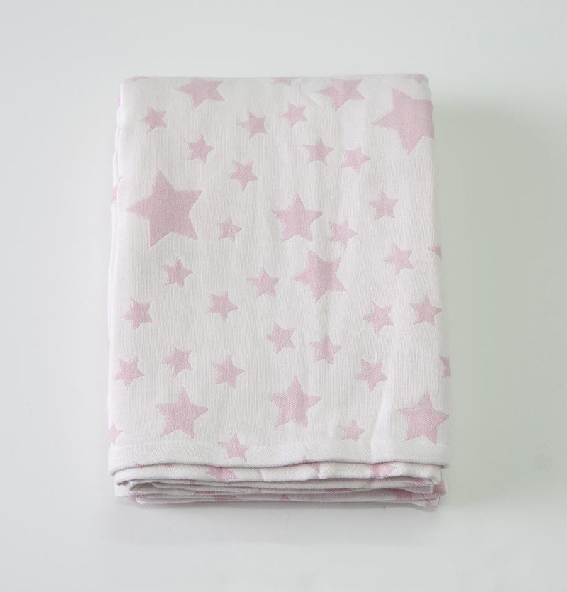 "Jacquard Throw double-sided ""HOW TO CATCH A STAR"""