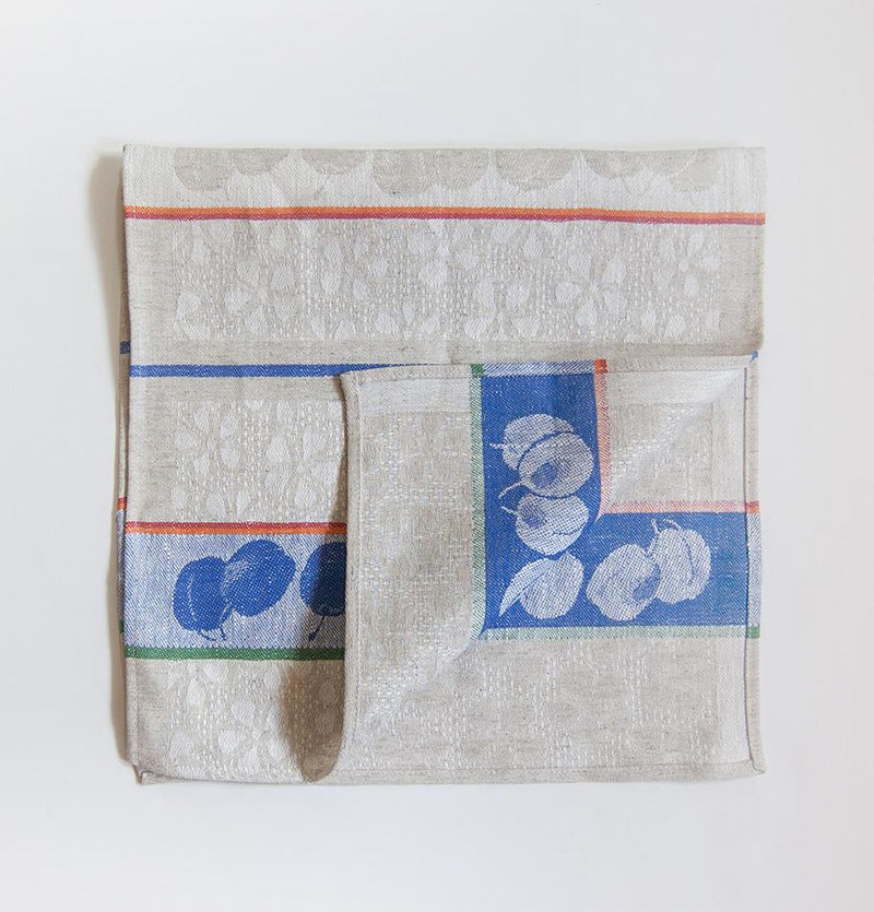Linen + Cotton Jacquard Tea Towels double-sided 'TEA-PARTY', 2 pc, 35 cm x 70 cm - Treasure Box