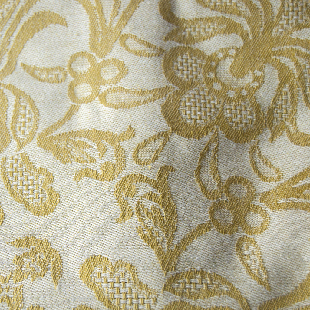 "100% Cotton Jacquard Tablecloth double-sided ""FOREVER & EVER...the weave made"", mustard"