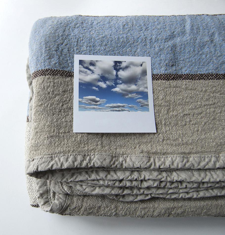 100% Softened Linen Blanket, 210 cm x 220 cm, collection 'WRAP ME UP, BABY'