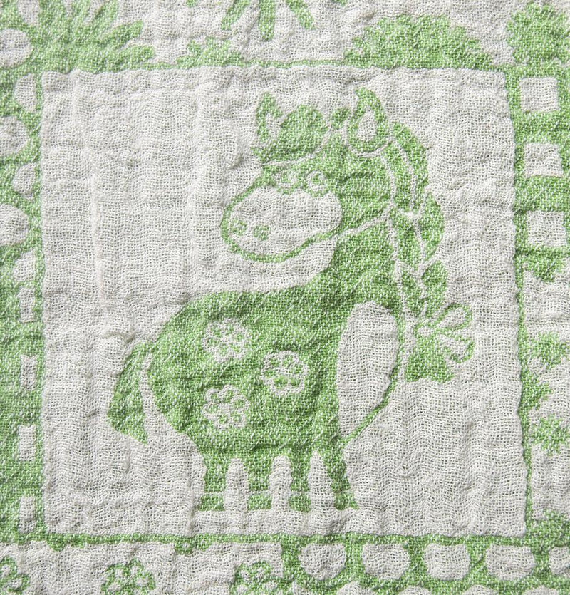 100% Softened Linen Blanket, Jacquard, double-sided, 150 x 130 cm 'LOVE YOU TO THE MOON' - Treasure Box