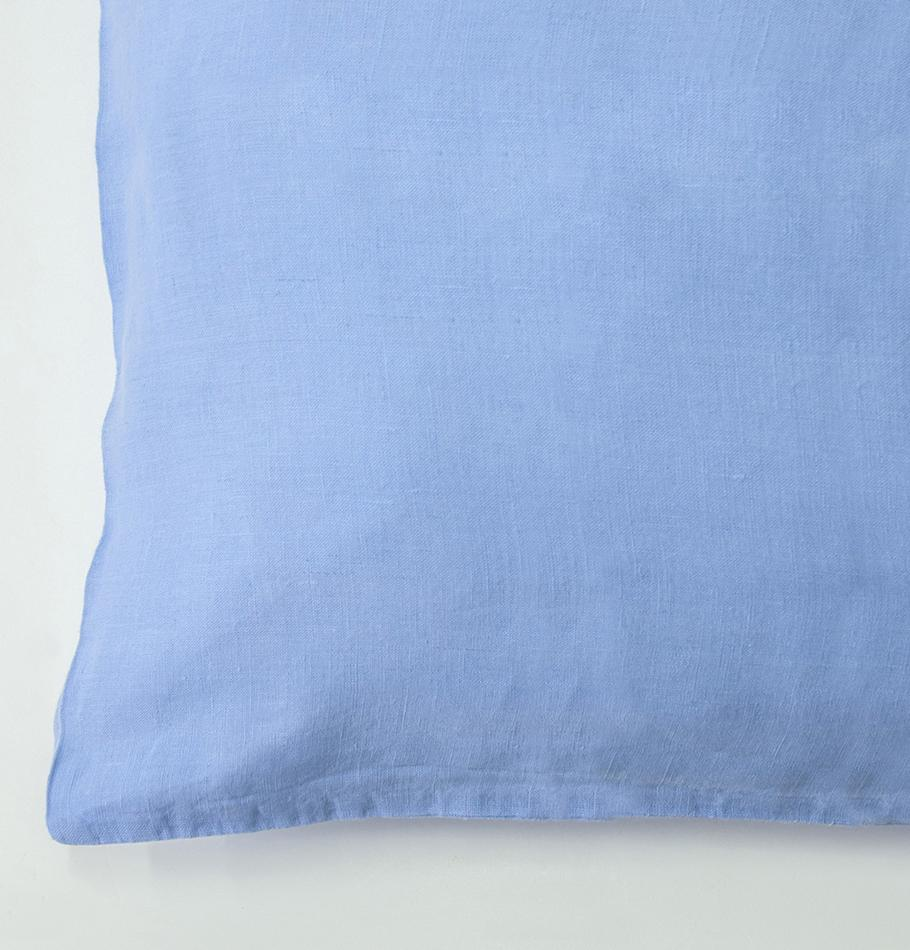 100% Softened Linen Pillowcases, 2 pc, 'ON THE MEADOW...', 50 cm x 70 cm, #452 flax flower