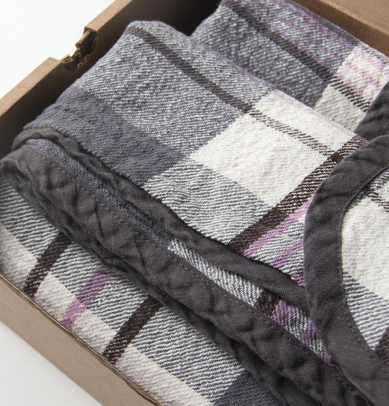 100% Softened Linen Blanket, 180 cm x 220 cm, collection 'WRAP ME UP, BABY' - Treasure Box