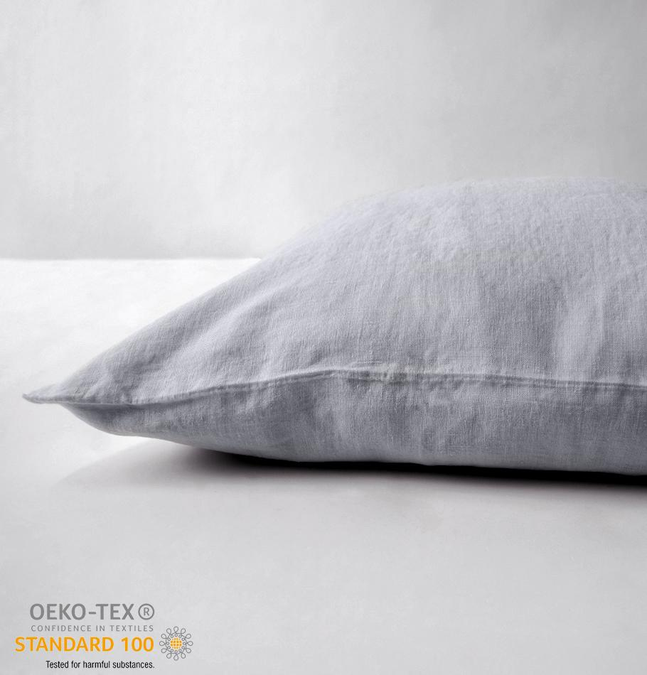 100% Softened Linen Pillowcases, 2 pc, 'ON THE MEADOW...', 50 cm x 70 cm, #1292 sunset cloud - Treasure Box