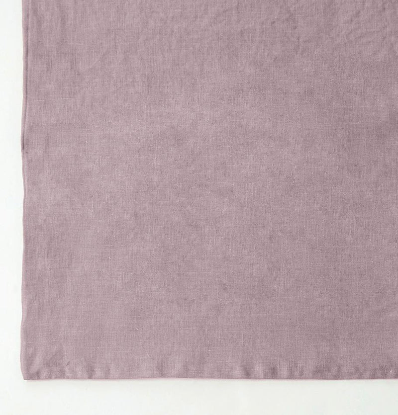 100% Softened Linen Pillowcases, 2 pc, 'ON THE MEADOW...', 50 cm x 70 cm, #1555 dusty rose - Treasure Box