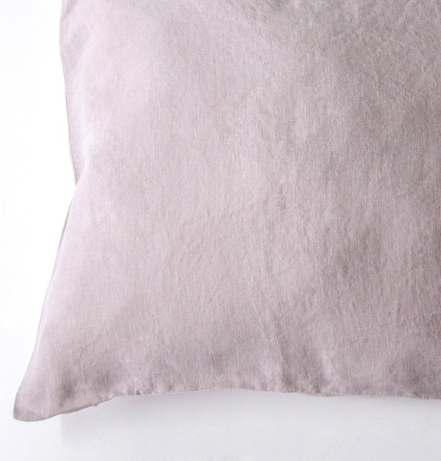100% Softened Linen Pillowcases, 2 pc, 'ON THE MEADOW...', #320 misty rose