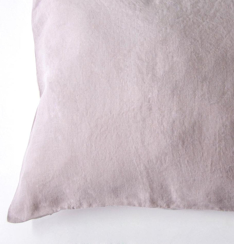 100% Softened Linen Pillowcases, 2 pc, 'ON THE MEADOW...', #320 pink