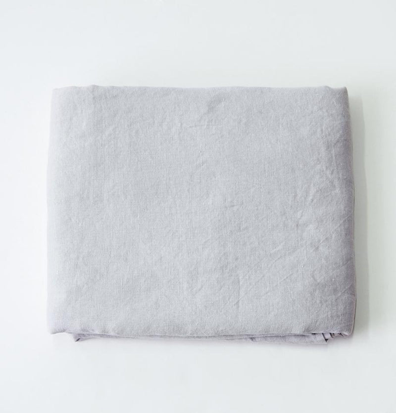 100% Softened Linen Duvet Cover 'ON THE MEADOW...', 200 cm x 220 cm, #1292 grey
