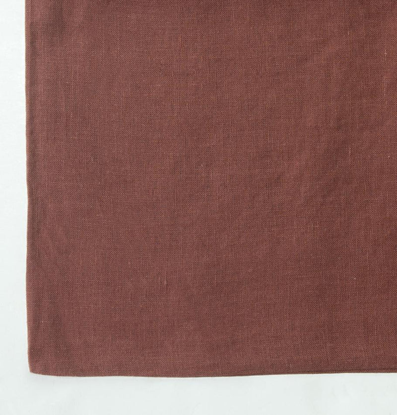 100% Softened Linen Flat Sheet 'ON THE MEADOW...', #brown