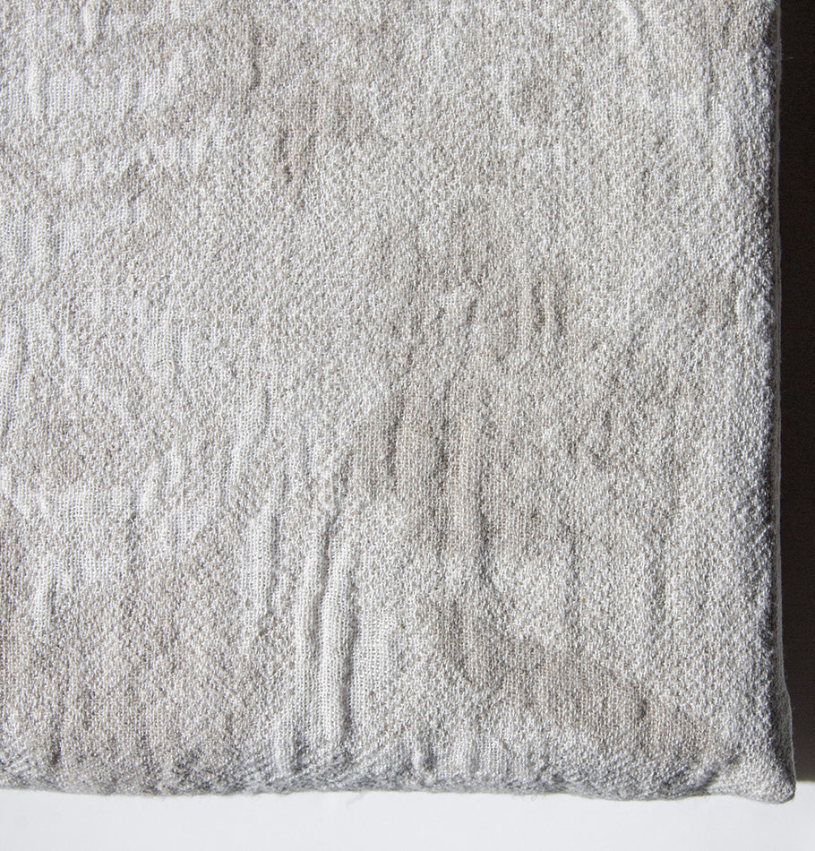 Softened Linen + Cotton Blanket, Jacquard, 225 cm x 235 cm, collection 'WRAP ME UP, BABY' - Treasure Box